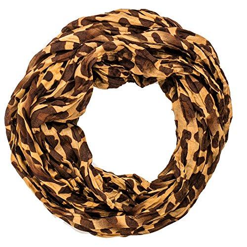 schal leopardenmuster schlauchschal braun Loop schal tuch damen leopard Muster LookRundschal LoopL0307