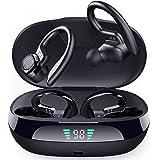 Wireless Earbuds Running Headphones,Bluetooth 5.0 Sports Headphones with Ear Earphones Bluetooth Earphones IPX65 Waterproof w