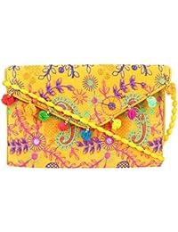 Rajasthani Jaipuri Bohemian Art Sling Bag Foldover Purse - B07FMYV8WB
