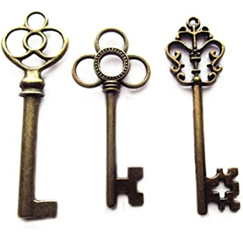 requires Skeleton Key Great Shape & Complete Pure White And Translucent Smart Vintage Door Handle & Lock Set