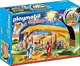 Playmobil Christmas 9494 - Presepe Illuminato con Piedini Pieghevoli, dai 4 Anni