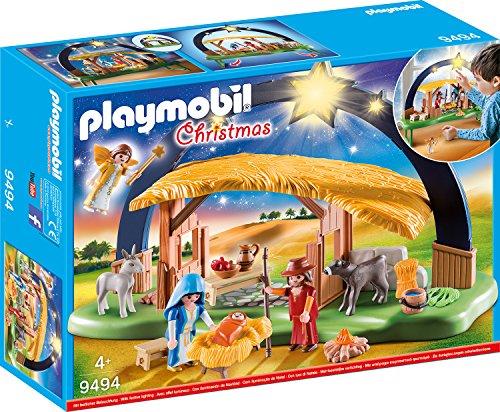 Playmobil- Belén con Luz Juguete, Multicolor, (geobra Brandstätter 9494)