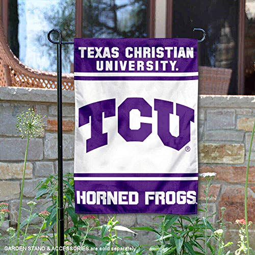 College Flags and Banners Co. Texas Christliche Hornfrösche Gartenflagge Tcu Mini