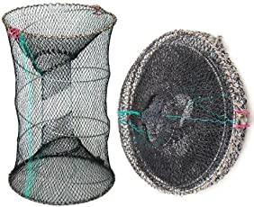SWT Foldable Lobster Crawdad Crab Crawfish Shrimp Trap Cage Cast Fishing Net - The Size of Opening: 30Cm X 60Cm