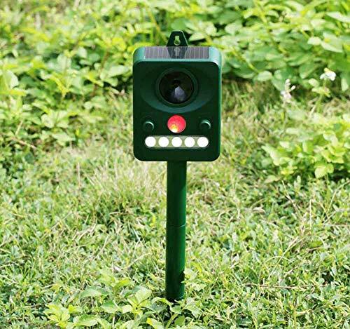 trancoss Ultraschall Vogelabwehr Solar Tiervertreiber, Hundeschreck, Katzenschreck, Marderschreck Tierabwehr mit PIR Sensor für Outdoor Farm Garten Abschreckung