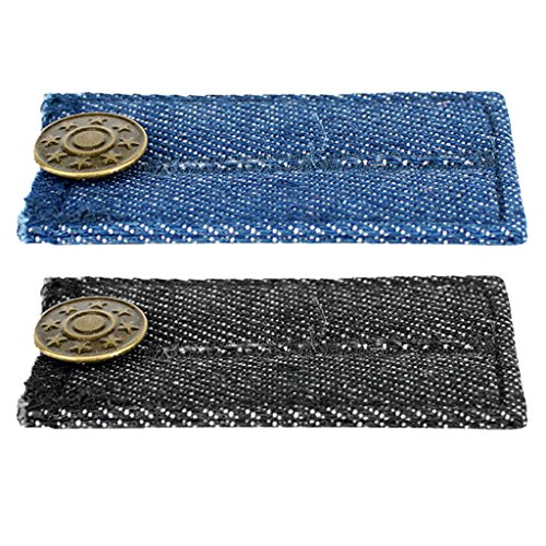 Sharplace 2 Stü Blue & Black Denim Jeans Hosen Taille Extender Button Expander