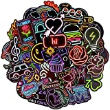 Felly Graffiti Stickers Autocollant Lot [50-pcs] , Voiture Autocollant Jouets Neon Light Animal Mignon Stickers pour Voitures, Ordinateur Portable, Enfants, Moto, vélo, Skateboard, Bagages