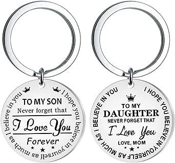 """PRETYZOOM - Portachiavi con scritta """"Il mio figlio"""", idea regalo ispirata a papà, mamma e papà, non dimenticate, mai che ti amo, per sempre."""