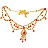 Project Luxe Traditional Gold Plated Kamarband for Women and Girls - Waist Hip Chain with Beautiful Gold & Red Color Stone Wo