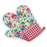 TFENG Ofenhandschuhe, 18 x 28cm, Hitzebeständige Grillhandschuhe, Anti-Rutsch Backofen Handschuhe, 1 Paar