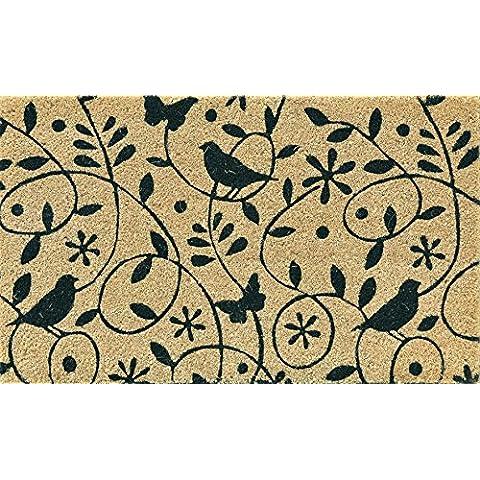 Verdemax 5464Design uccelli Zerbino Rettangolare, 45x 75cm
