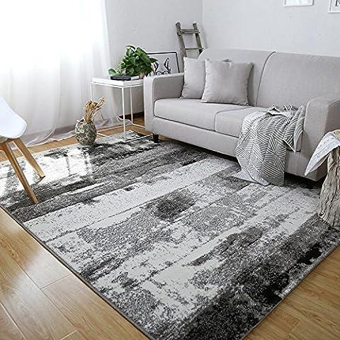 Tapis pour le salon Ingrie Barneur Motif décoration anti-tâches moderne durable, dimensions: 140x 200cm (Noir)