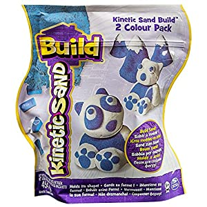 Kinetic Sand Build 2 Colour Pack, Arena cinética, colores surtidos