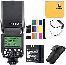 Godox V860IIS Black camera flash - camera flashes (64 mm, 76 mm, 190 mm, 540 g)