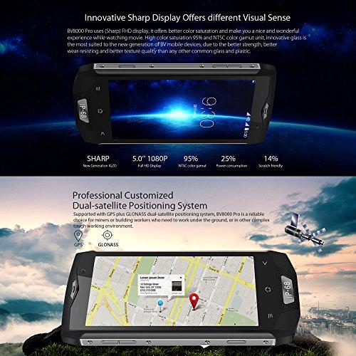 Blackview BV8000 Pro Smartphone IP68 Impermeable 4G LTE a Prueba de Choques Polvo  Android 7 0  Pantalla 5 0   MTK6757V Octa-core  6GB 64GB  C  mara 1