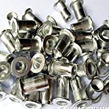 Veda 25 x Blindnietmuttern insgesamt 100 Stück 25xM4,25xM5,25xM6,25xM8 Gewinde Aluminium Nietmutter Insert Nutsert