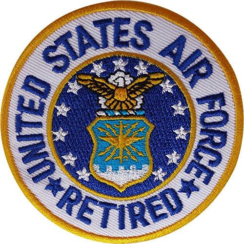 United States Air Force Retired Patch Eisen auf Sew auf gesticktes Badge Rentner (Raf Pilot Kostüm)