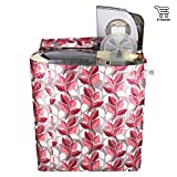 E-Retailer Classic Pink Leaves Semi-Automatic Washing Machine Cover Upto 7 Kg Capacity