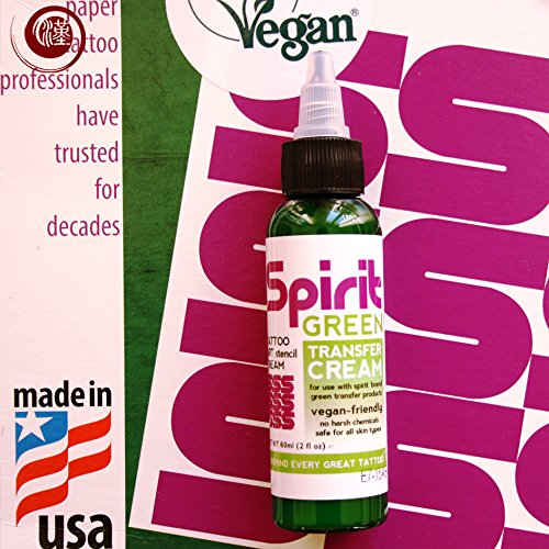 SPIRIT Green A4 Matrizenpapier für Thermokopierer 10 Blatt + SPIRIT Green Transfer Cream 30 ml