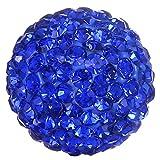 Morella® Damen Engels Klangkugel Zirkonia blau Ø 16 mm