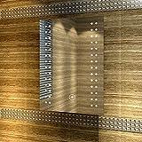 sunnyshowers Badspiegel mit energiesparender LED-Beleuchtung warmweiß IP44 [Energieklasse A+] 50 x 70cm beschlagfrei