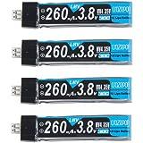 Crazepony 4pcs 260mAh HV LiPo batterie 30C 3.8V pour lame de Whoop minuscule Inductrix JST-PH 2.0