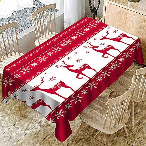 Ansenesna Tischtuch Rot Weihnachten Rechteckig Ornament Tischdecke Stoff Weihnachtlich...