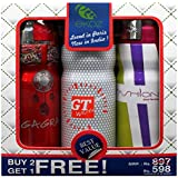 Ekoz Gagra,Gt White & Fashion Femme Deodorant- 200 Ml Each( Set Of 3)