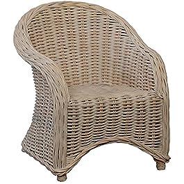 Chaise pour enfants en rotin Couleur Fauteuil Vintage Blanc