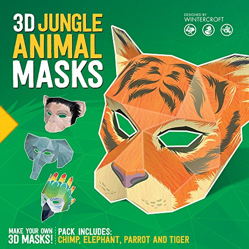 3D Jungle Animal Masks por Steve Wintercroft