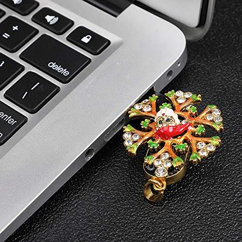 Wokee Weihnachtskristall Crystal Snowflakes USB Flash Drive 32 GB Memory Stick