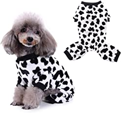 Morehappy7 Hundepyjama/Schlafanzug für den Winter, mit Milchkühen