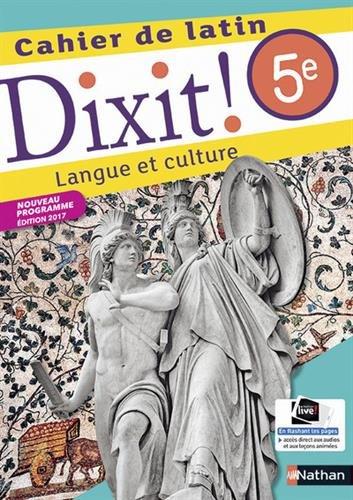 Cahier de latin 5e Dixit ! : Langue et culture par From Nathan