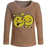 BEZLIT Mädchen Wende-Pailletten Pullover Sweatshirt Pulli 21487 Braun Größe 152