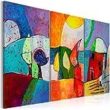 murando - Cuadro pintado a mano 120x80 cm -100% pintados a mano - cuadro en lienzo - tríptico - abstracción - 5520