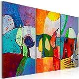 murando handgemalte Bilder Triptychon 120x80cm Gemälde 3 tlg 5520