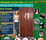 Mosquito Net - Mosquito Protection Mag netic Screen Full Frame Door Mesh Mosquito Curtain With Hook and Loop Fastener Tape With Highest Weight In Quality On Amazon (90 Cm W X 210 Cm H) (Package Weight - 635 Grams) By KARP - Coffee Color