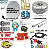 KIT SAT TOP ! PARABOLA SAT + VARI ACCESSORI IL KIT SAT PIU' COMPLETO !! (CM 60)