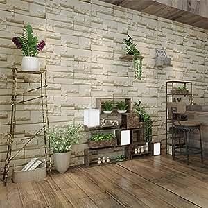 kinlo vliestapeten stein 10m x retro gelb aus. Black Bedroom Furniture Sets. Home Design Ideas