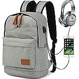 Hozee Wasserdicht Laptop Rucksack Herren Schulrucksack Jugendliche Schultaschen für 12-15.6 zoll mit USB Ladeschluss-Jungen Backpack Teenager Daypack Freizeitrucksack