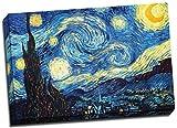 Poster Sternennacht, Vincent Van Gogh, Kunstdruck auf Leinwand, A1, 76,2 x 50,8 cm