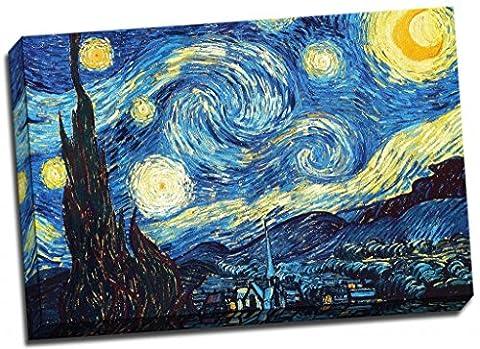 Toile Van Gogh - Nuit étoilée de VINCENT VAN GOGH Poster
