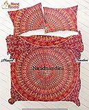 NANDNANDINI TEXTILE - Weihnachten Dekorative Urban Outfitter Indische dekorative Schlafzimmer Dekor, Wohnkultur, Decke, Tröster, indische Steppdecke, böhmische Tagesdecke, böhmische Bettwäsche, indische Bettwäsche, werfen Decken, Baumwolle Tapisserie Bettbezug