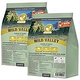NATURAL | Wild Valley | 2 x 15 kg | Lamm + Lachs + Kartoffel | getreidefreies Hundefutter | Trockenfutter für alle Hunderassen | viel frisches Fleisch | artgerecht & besonders gut verträglich