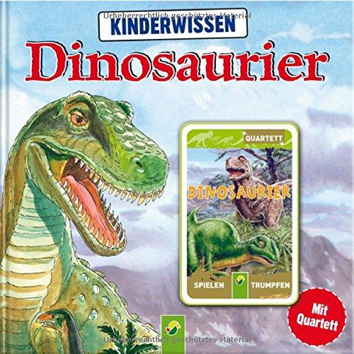 Kinderwissen Dinosaurier: Buch mit 32 Quartettkarten