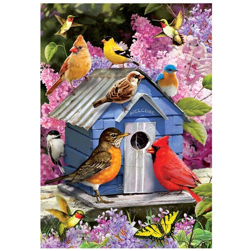 Custom Decor, Inc. Songbird Vogelhaus-Garten Größe, 30,5x 45,7cm, Dekorativen Doppelseitig Lizenzprodukt, urheberrechtlich geschützten und urheberrechtlich geschützt Flagge Bedruckt in Den USA
