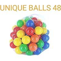Unique Color Balls Premium Quality Balls for Kids Genuine Quality Balls - 8 cm Diameter Similar Size of Cricket Ball (Set of 48)