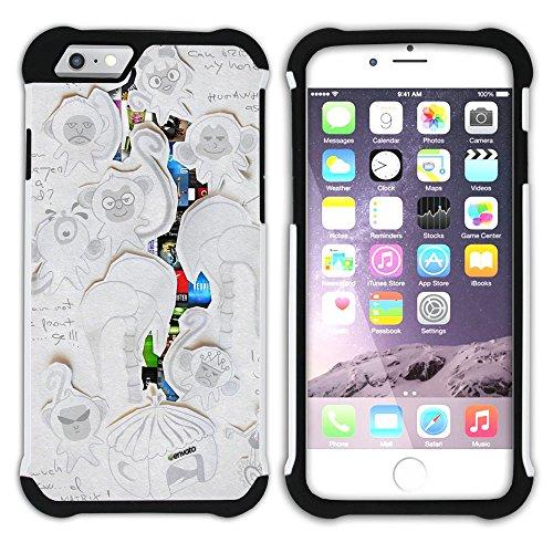 Graphic4You Concept Art Design Hart + Weiche Kratzfeste Hülle Case Schale Tasche Schutzhülle für Apple iPhone 6 / 6S Design #9