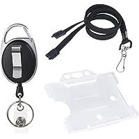 Vicloon Porte-badge avec Yoyo et Cordon Résistant avec Courroie de Cou de Lanière,Protection de Vos Badges Carte de…