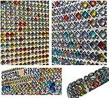 1380 pcs purpurina brillantes autoadhesivas redondo + cuadrado multicolor redondo manualidades Gltzersteine cuadrada piedras preciosas piedras de estrás para arreglar de CRYSTAL KING